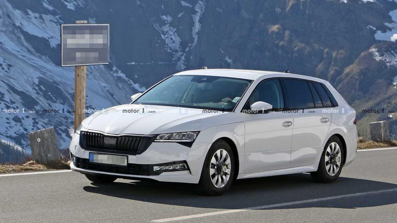 2020 Skoda Octavia Wagon Spied Wearing Clever Camouflage