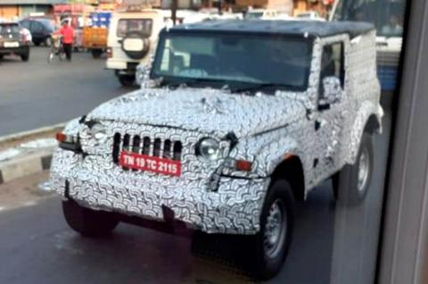 Next-gen Mahindra Thar hard top caught testing