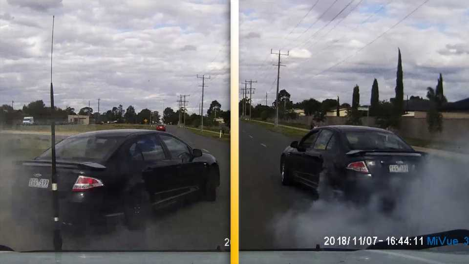 Australian Man Steals Ford Falcon, Gets Caught on Dash Cam Driving Like He Stole It