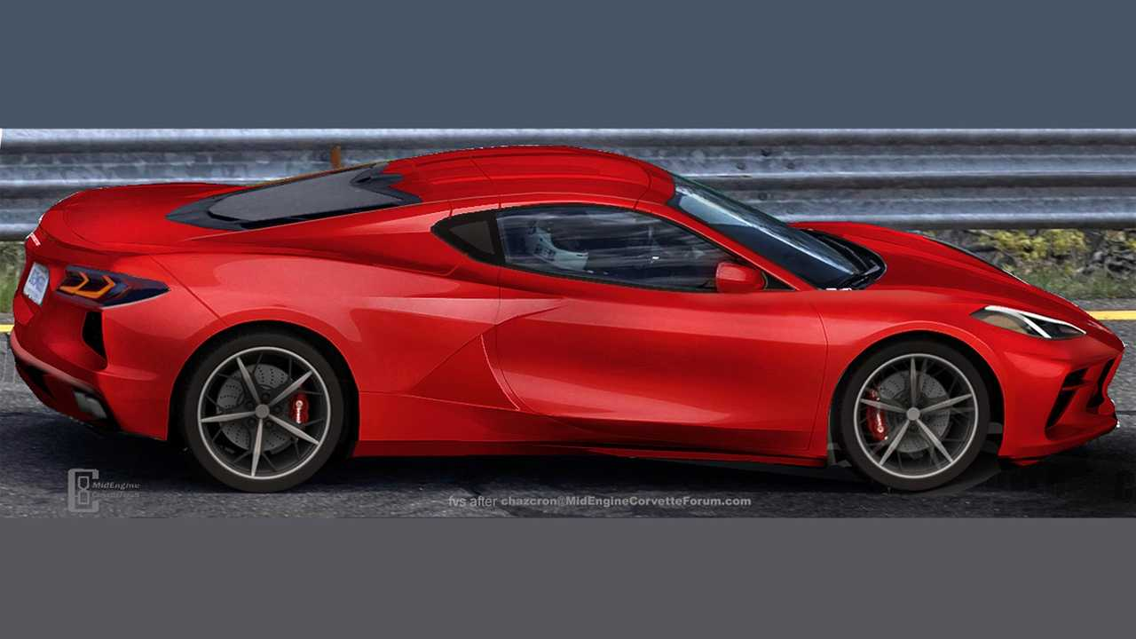 Mid-Engined Chevrolet Corvette Rendered With Different Side Scoops