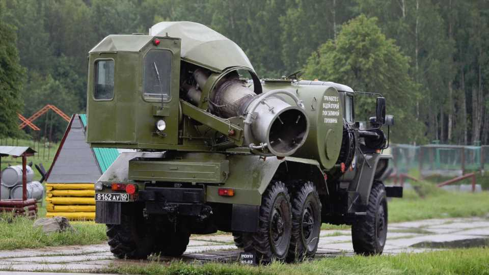 Russia Uses These Crazy Antique Jet Engine-Equipped Trucks To Blast Away Chemical Agents