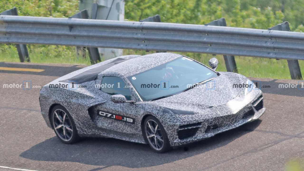 Mid-Engined C8 Corvette Spied Track Testing In Base Model Trim
