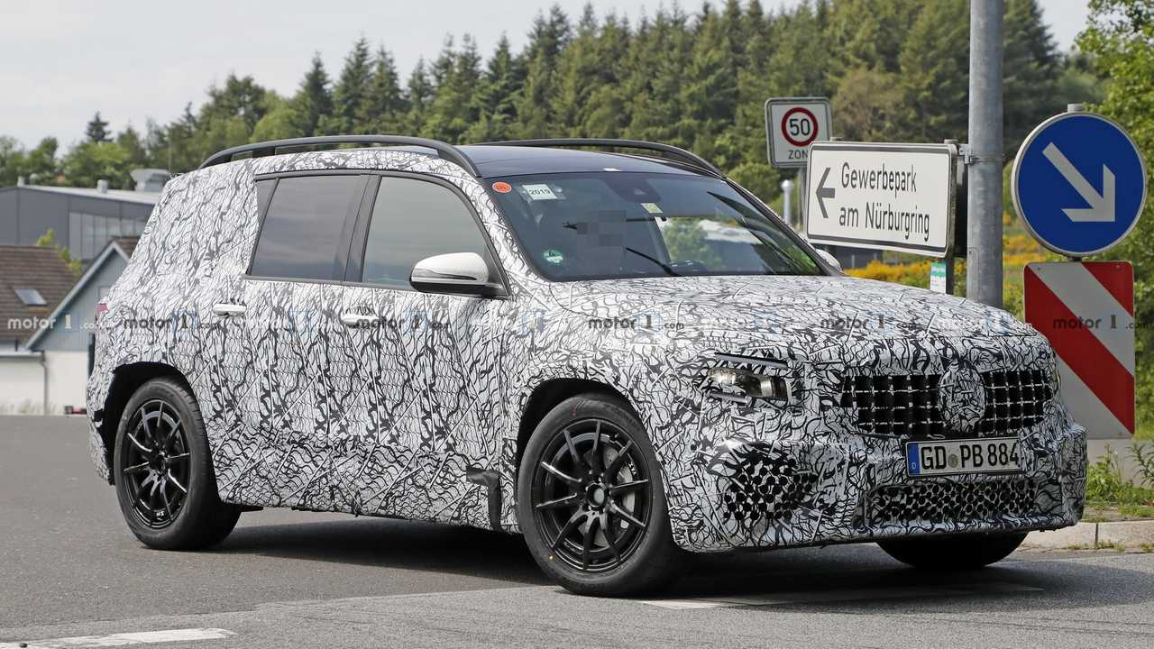 Mercedes-AMG GLB 35 Spied Hiding The Obvious