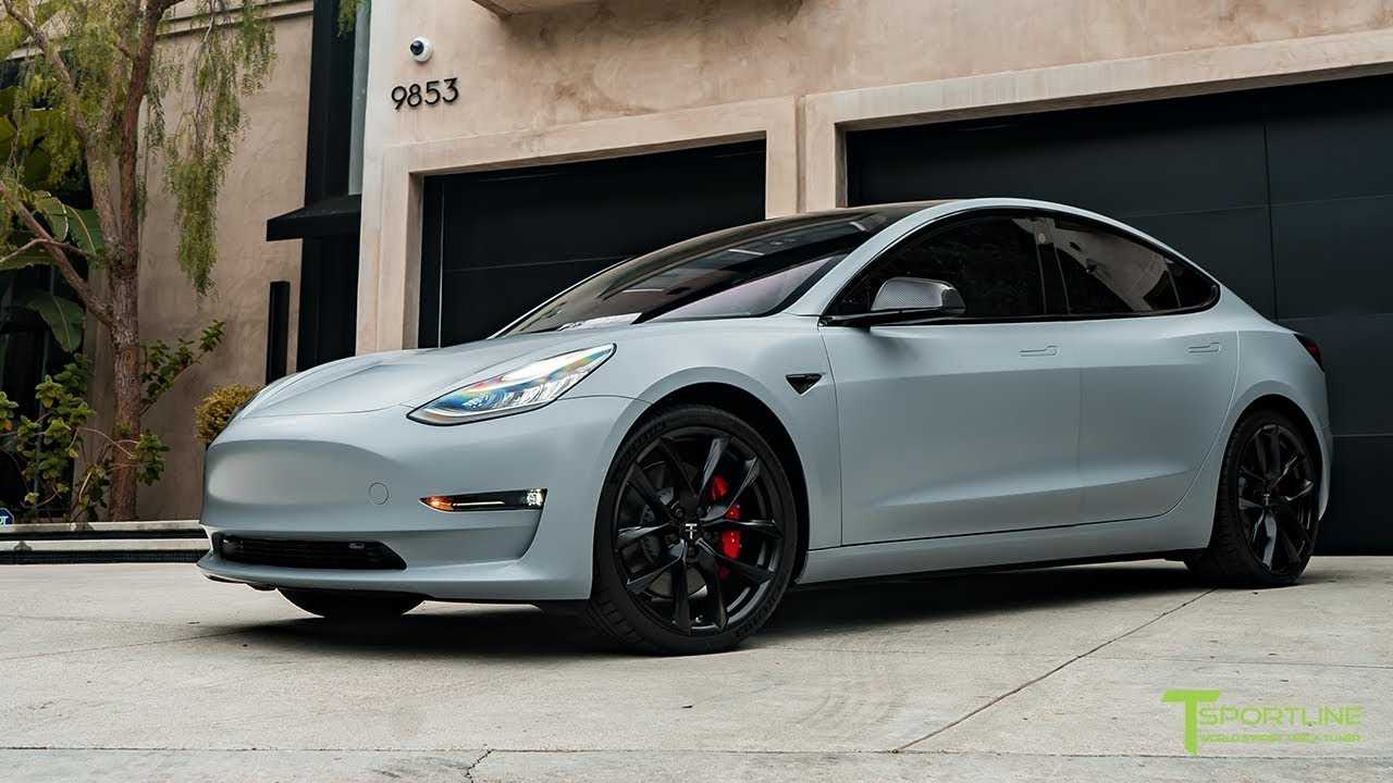 Tesla Model 3 Looks Shocking In Satin Battleship Gray: Video