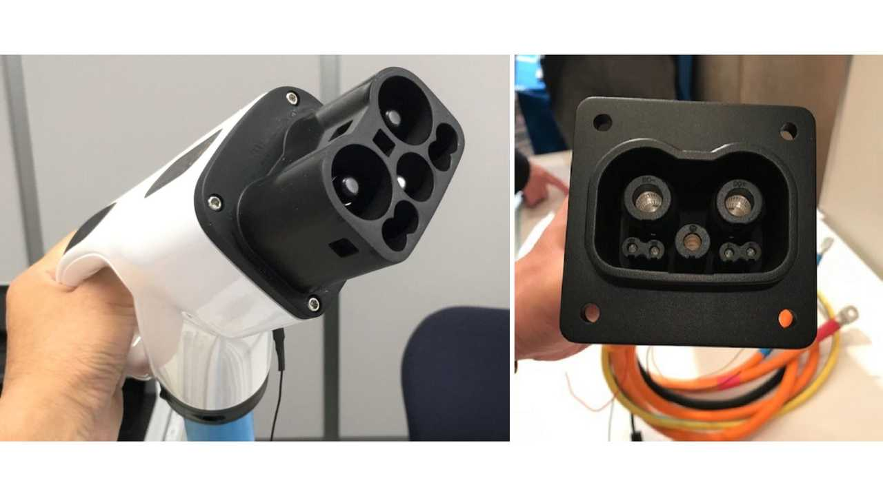 Here Is The Prototype For The New GB/T – CHAdeMO Plug And Inlet