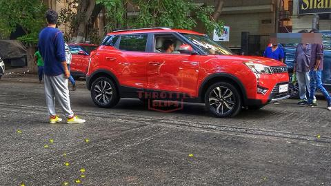 Mahindra XUV300 AMT spotted during ad shoot