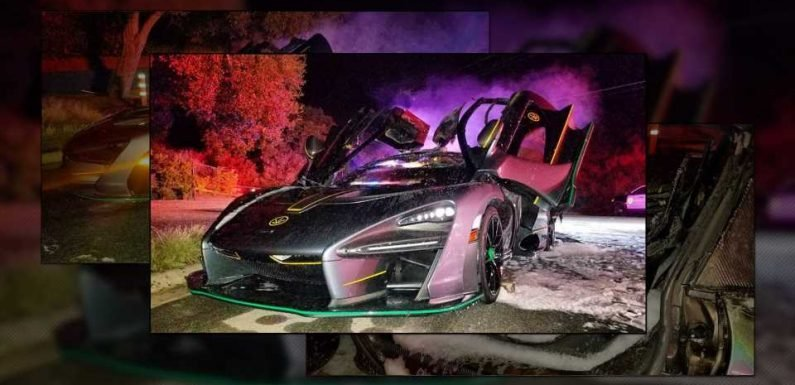 McLaren Senna Owned by Salomondrin Suddenly Catches Fire in LA