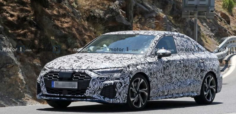 2020 Audi S3 Sedan Spied Getting A Corner Carving Workout