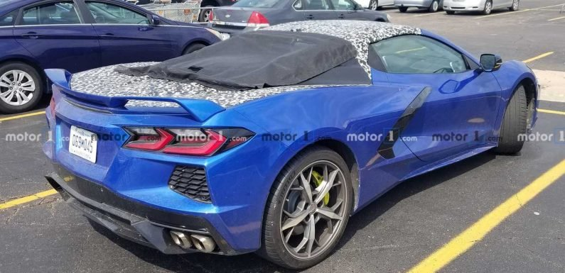2020 Chevy Corvette Convertible Spied Trying To Hide Its Top