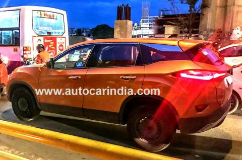 Tata Harrier with sunroof spotted