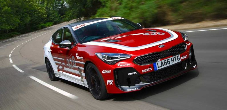 The Kia Stinger GT420 Is a 422-HP One-Off Track Car That Was Supposed to Be Crushed