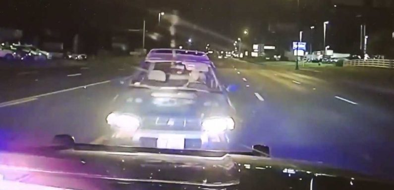 See Alleged Drunk Driver Run Into Cop Car On Wrong Side Of Road