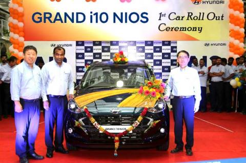 First Hyundai Grand i10 NIOS rolls off the production line