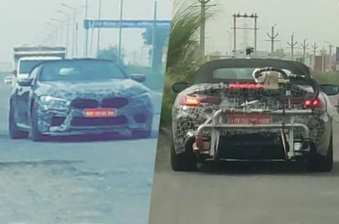 BMW M8 Convertible spotted in India