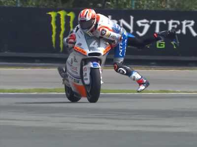 Video: Watch this MotoGP rider make perhaps the most incredible save ever