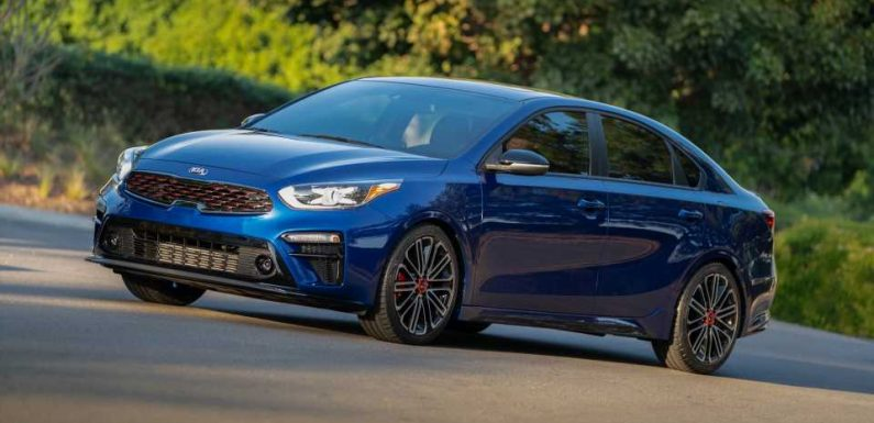 2020 Kia Forte compact sedan starts at $18,715, but the GT you want is $23,815