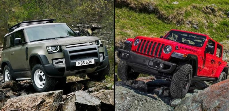 2020 Land Rover Defender vs Jeep Wrangler Rubicon Specs Comparison