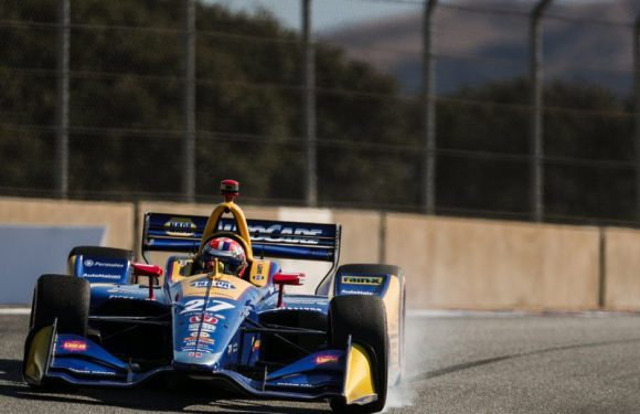 Alexander Rossi takes the road less traveled to the fastest time in IndyCar final practice at Laguna Seca