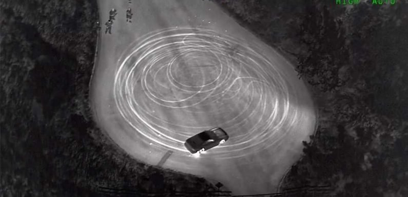 California Police Use Helicopter, 5-Car Squad to Catch Kid Doing Donuts on Rural Road