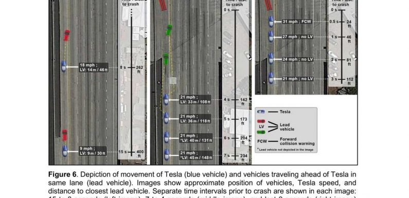The Four Sides Of A Tesla Autopilot Crash Are Revealed By NTSB