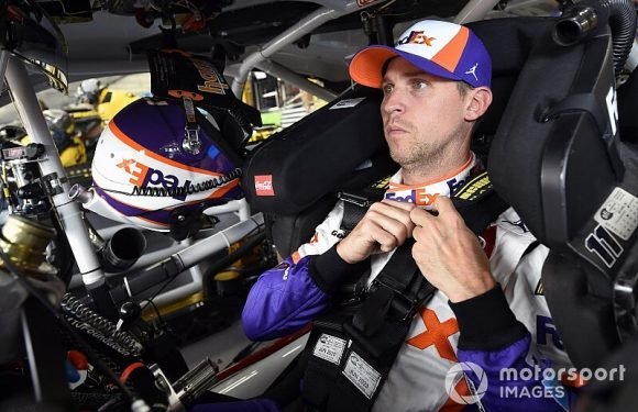 Denny Hamlin tops first Talladega practice at nearly 205 mph