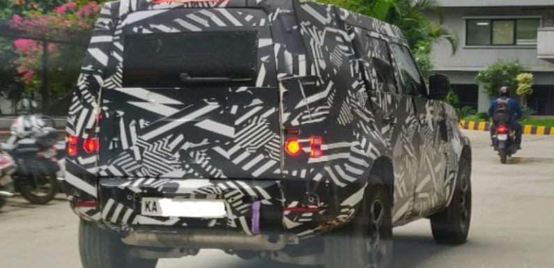 2020 Land Rover Defender Spotted Testing In India