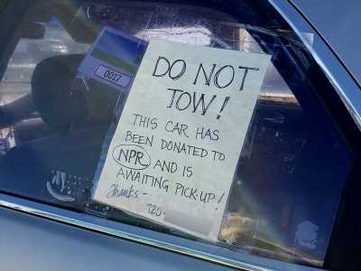 Will a promise to donate your illegally parked car to charity save it from being towed?