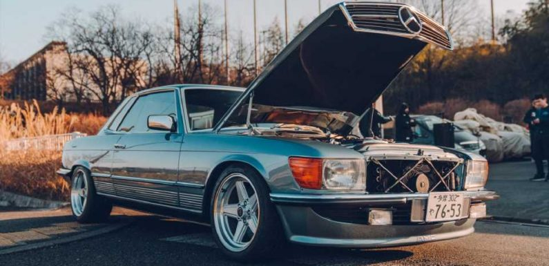 Toyota 2JZ-GTE-Swapped 1977 Mercedes-Benz 450SLC Is What Tuner Dreams Are Made Of