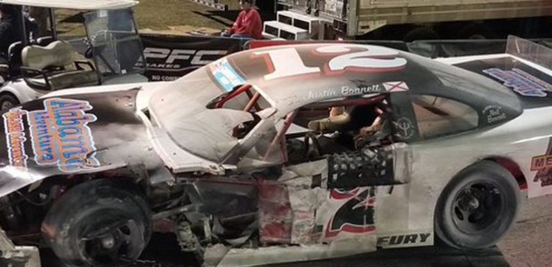 Video: Neil Bonnett's grandson injured in fiery race crash in Florida