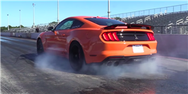 Watch This 877-HP Ford Mustang Shelby GT500 Break a Quarter-Mile Record