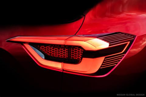 Nissan sub-4 m SUV's tail lamp revealed