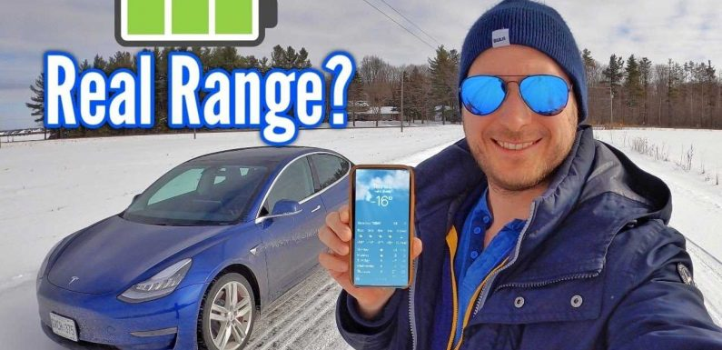 What Is The Real Range Of The Tesla Model 3 In Cold Climates?