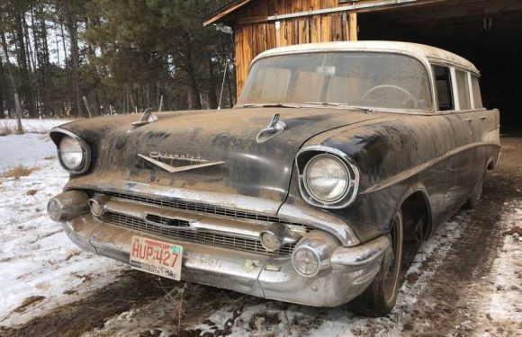 Barn Find 1957 Chevy Wagon Parked for 35 Years