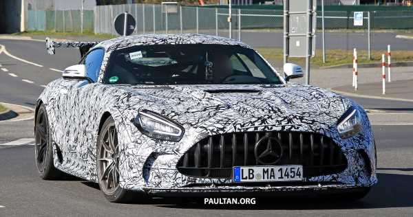 SPIED: Mercedes-AMG GT Black Series – more aggressive aero, 700 hp/750 Nm; flat-crank engine?