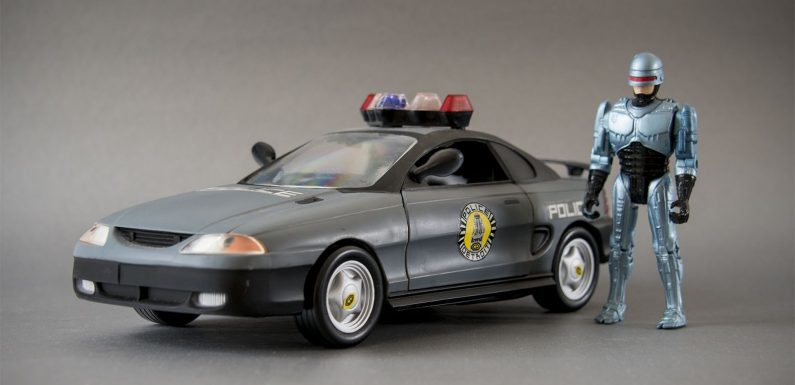 In 1994 RoboCop Traded His Taurus for a Ford Mustang, Spawning These Toy Island Collectibles