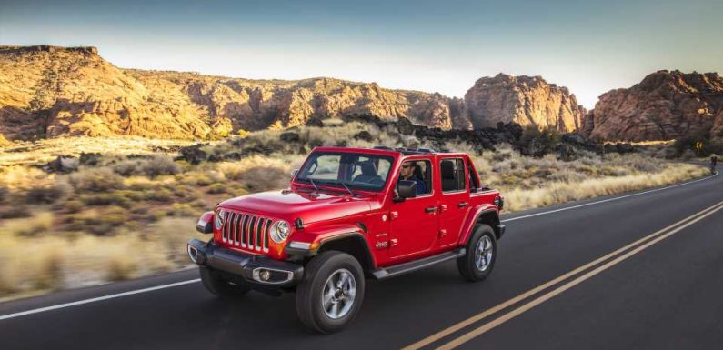 IIHS reports that new Jeep Wrangler SUV rolled over on its side during driver-side crash