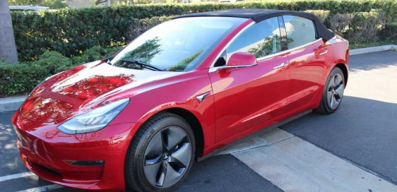 Here's A Convertible Tesla Model 3 For $30,000, Plus The Price Of The Car