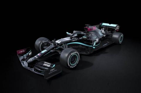 Mercedes supports anti-racism movement with all-black livery