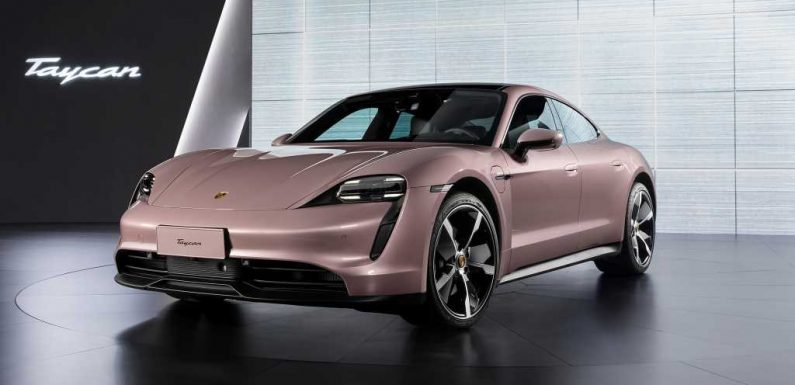 Entry-Level Rear-Drive Porsche Taycan EV Unveiled In China