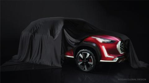 Nissan shows off the Magnite B-SUV concept in teaser images