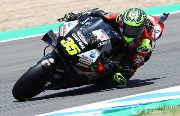 Crutchlow ruled out of Jerez MotoGP after warm-up crash