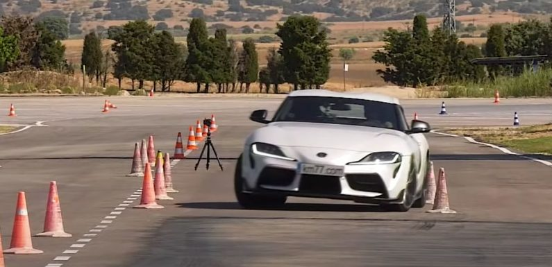 Here's The Toyota GR Supra (Just About) Clearing The Moose Test