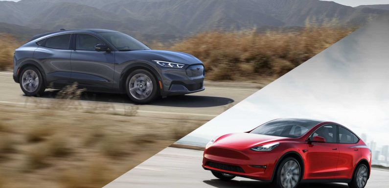 Tesla Model Y Vs Ford Mustang Mach-E: Comparison & Infographic