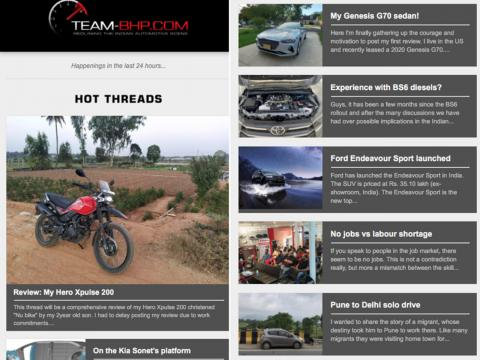 Subscribe to Team-BHP's Daily Newsletter!