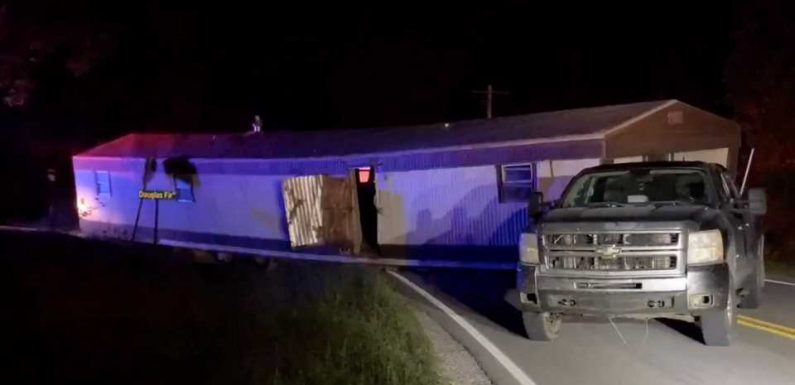 Chevy Silverado Driver Busted Towing 70-Foot Mobile Home on Rural Missouri Highway