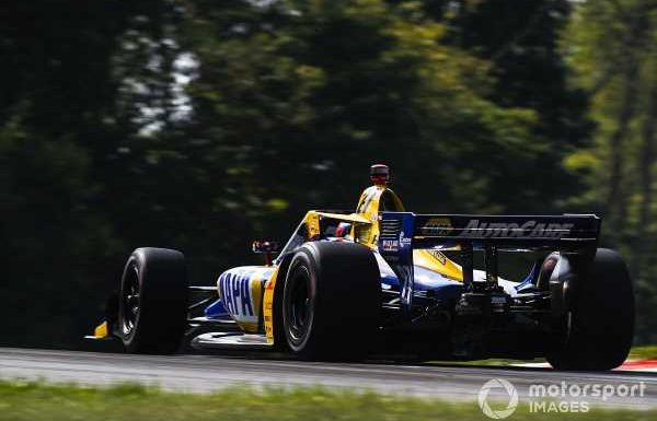 Rossi didn't have enough fuel to tackle Newgarden for second