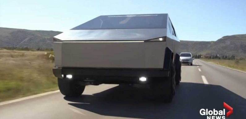 This Spot-On Tesla Cybertruck Replica Is Actually a Very Pointy Ford F-150 Raptor