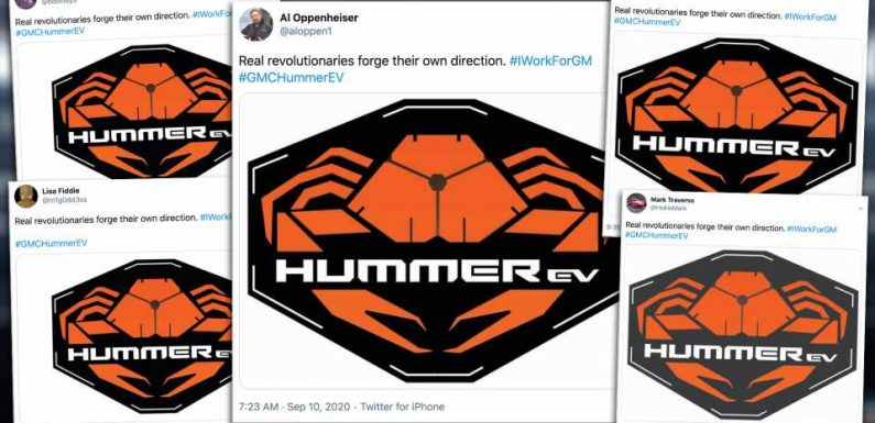 GM Employees Are Sending Weird Identical Tweets About the Hummer EV's Crab Mode
