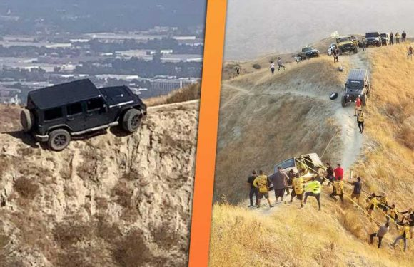 That Infamous Jeep Wrangler Stuck on a Dangerous Bike Trail Has Been Saved