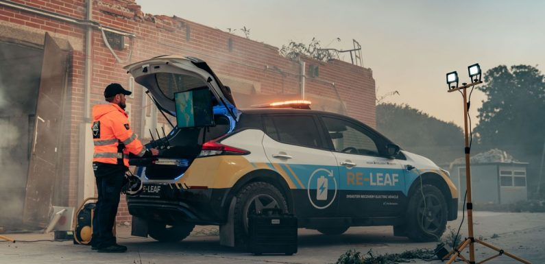 Nissan Re-Leaf Is A Chunky-Tyred Disaster Response Power Bank
